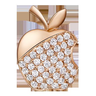 苹果钻石吊坠系列——【偶遇】18K金钻石吊坠