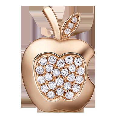 苹果钻石吊坠系列——【欣赏】18K金钻石吊坠