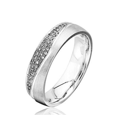 【梵语】18K金钻石戒指