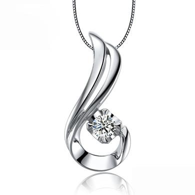 【天使之吻】18K金钻石吊坠