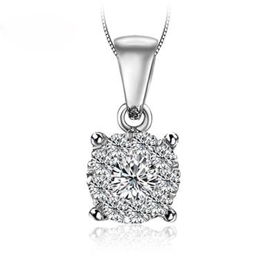 【满满的爱】18K金钻石吊坠