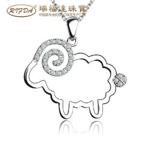 【小羊】18K金钻石吊坠