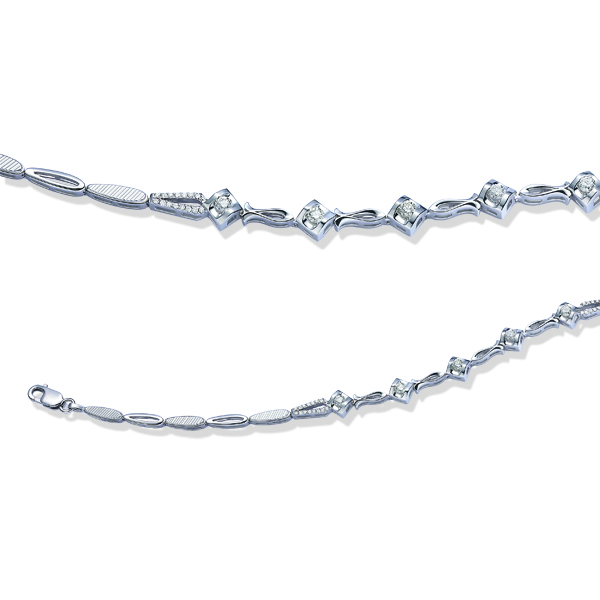 【链爱系列】18K金钻石手链(六)