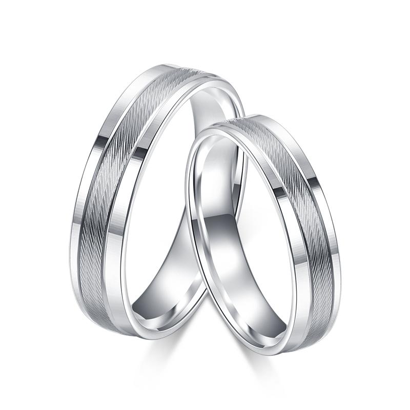 【斜纹】铂金戒指