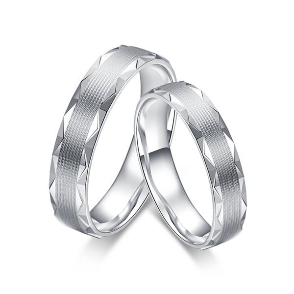 【格纹】铂金戒指